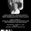 WHM Guest Speaker Michelle Duster Wednesday, March 4, 2020